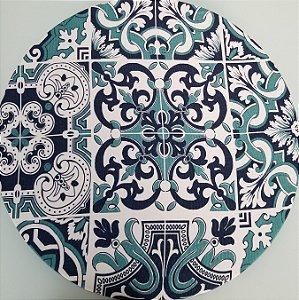 Capa de tecido mosaico azulejo