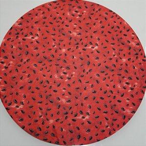 Capa de tecido caroços de melancia