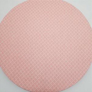 Capa de tecido rosa bebe quadriculado mosaico