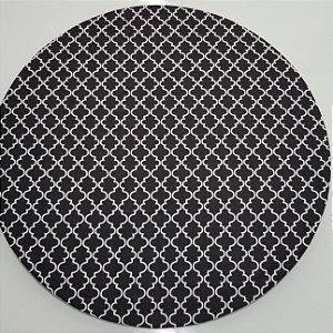 Capa de tecido trançado aberto preto e branco
