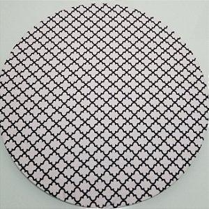 Capa de tecido trançado aberto branco e preto