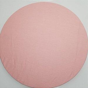 Capa de tecido rosa bebe liso