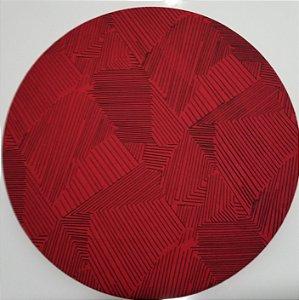 Capa de tecido vermelho com linhas pretas