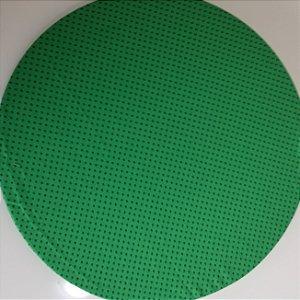 Capa de tecido fundo verde com bolinhas verde escuro