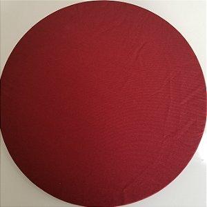 Capa de tecido vinho amarronzado liso