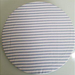 Capa de tecido listrado azul bebe