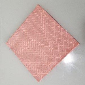 Guardanapo quadriculado rosa com branco