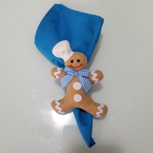 Guardanapo azul vivo de algodão