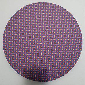 Capa de tecido mosaico losangulo colorido fundo roxo