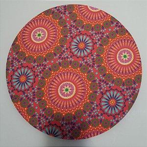 Capa de tecido mosaico mandala