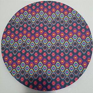 Capa de tecido mosaico roxo