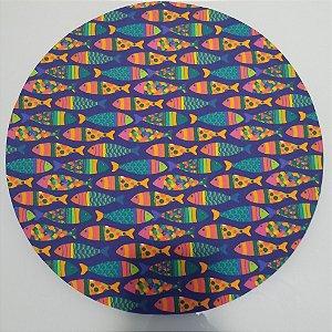 Capa de tecido peixes paralelo