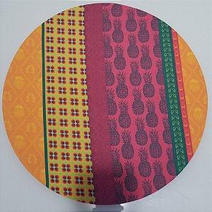 Capa de tecido abacaxi mosaico