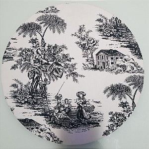 Capa de tecido fazenda preto e branco