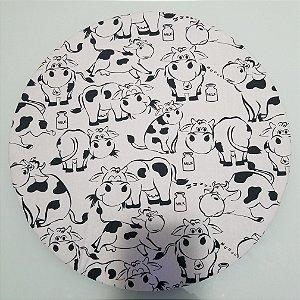 Capa de tecido vacas milk