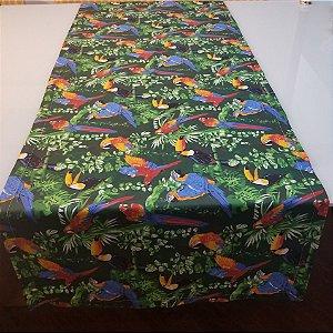 Caminho de mesa tucanos fundo verde