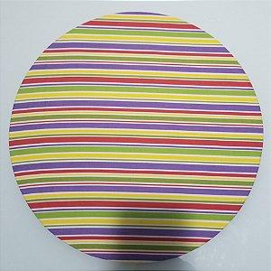Capa de tecido listrado arco iris