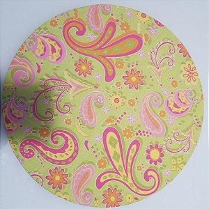 Capa de tecido mosaico abstrato fundo verde