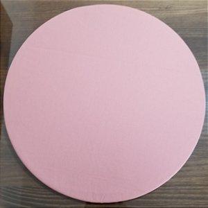Capa de tecido rosa salmao liso