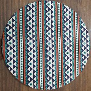 Capa de tecido mosaico