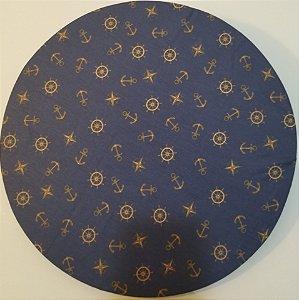 Capa de tecido ancôra fundo azul marinho