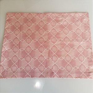 Lugar americano mosaico rosa trançado