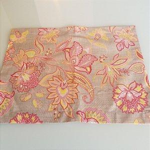 Lugar americano mosaico rosa floral