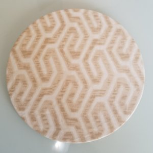 Capa de tecido laribinto bege