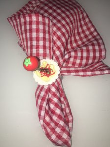porta guardanapo macarrão com garfo