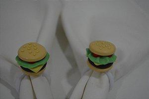 kit 2 porta guardanapo hambúrguer