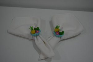 kit 2 porta guardanapo abacaxi com coco