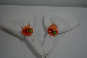 kit 2 porta guardanapo laranja