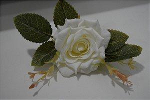 porta guardanapo flor  creme