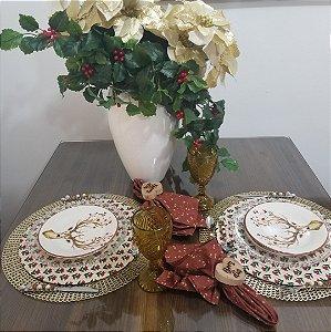 capa de tecido sousplat natal florido