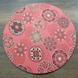 capa de tecido sousplat vermelho natal