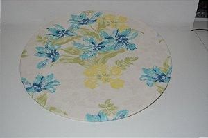 capa de tecido sousplat fundo claro com folhas
