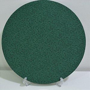 capa de tecido sousplat verde com desenhos verde natal