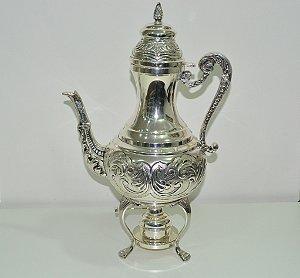 Bule  Samovar banhado a prata