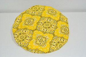 capa sousplat bandanas amarelo