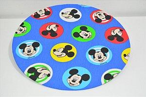Capa de sousplat fundo azul Mickey Mouse