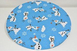 capa de sousplat fundo azul Frozen Olaf