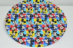 Capa de sousplat Mickey Mouse colorido