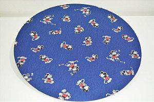 capa de sousplat fundo azul Mickey Mouse pequeno