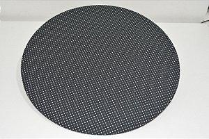 capa sousplat fundo preto com bolinhas brancas