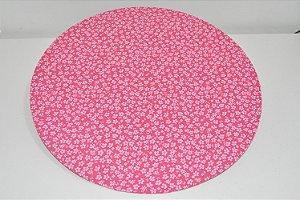 capa sousplat fundo rosa com florzinhas pequenas