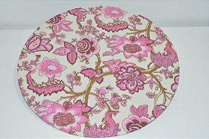 capa sousplat fundo claro com flores rosa