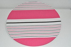 capa sousplat listrada branco rosa e preto