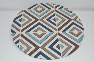 capa sousplat mosaico fundo bege claro