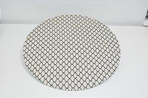 capa sousplat mosaico fundo bege desenhos preto