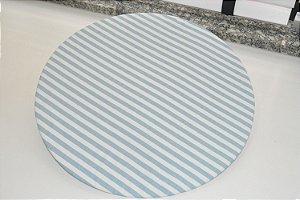 capa de sousplat azul claro e branco